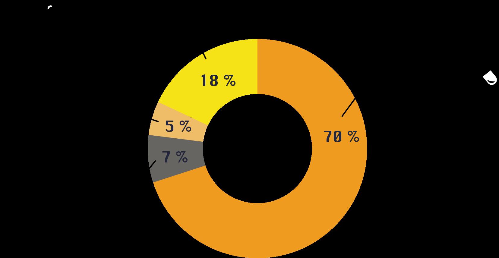 Minafin Pie Chart of markets served
