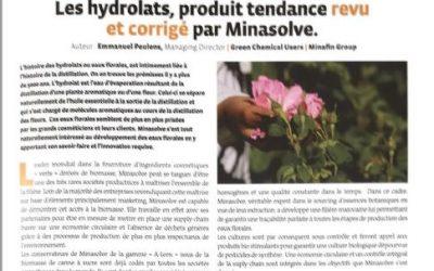 Les Hydrolats, produit tendance, revu et corrigé par MINASOLVE.